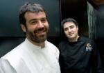 """M…XICO-GASTRONOMÕA:MEX16.CIUDAD DE M…XICO (M…XICO), 04/06/2010.- Los cocineros espaÒoles Bruno Oteiza (i) y Mikel Alonso (d) posan, hoy viernes 4 de junio de 2010, durante una entrevista con Efe, en el restaurante """"Biko"""" de Ciudad de MÈxico. Los sabores vascos y mexicanos conviven con la vanguardia y la tradiciÛn en la carta del restaurante capitalino Biko, que, desde este aÒo, es uno de los dos ˙nicos latinoamericanos presentes en la lista de los cincuenta mejores del mundo elaborada por la revista brit·nica 'Restaurant Magazine'. EFE/Alex Cruz (Newscom TagID: efespfive662385) [Photo via Newscom]"""