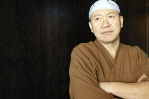 02.23.04- At the Time Warner Building at Columbus Circle is Chef Masa Takayama in his new sushi restaurant.