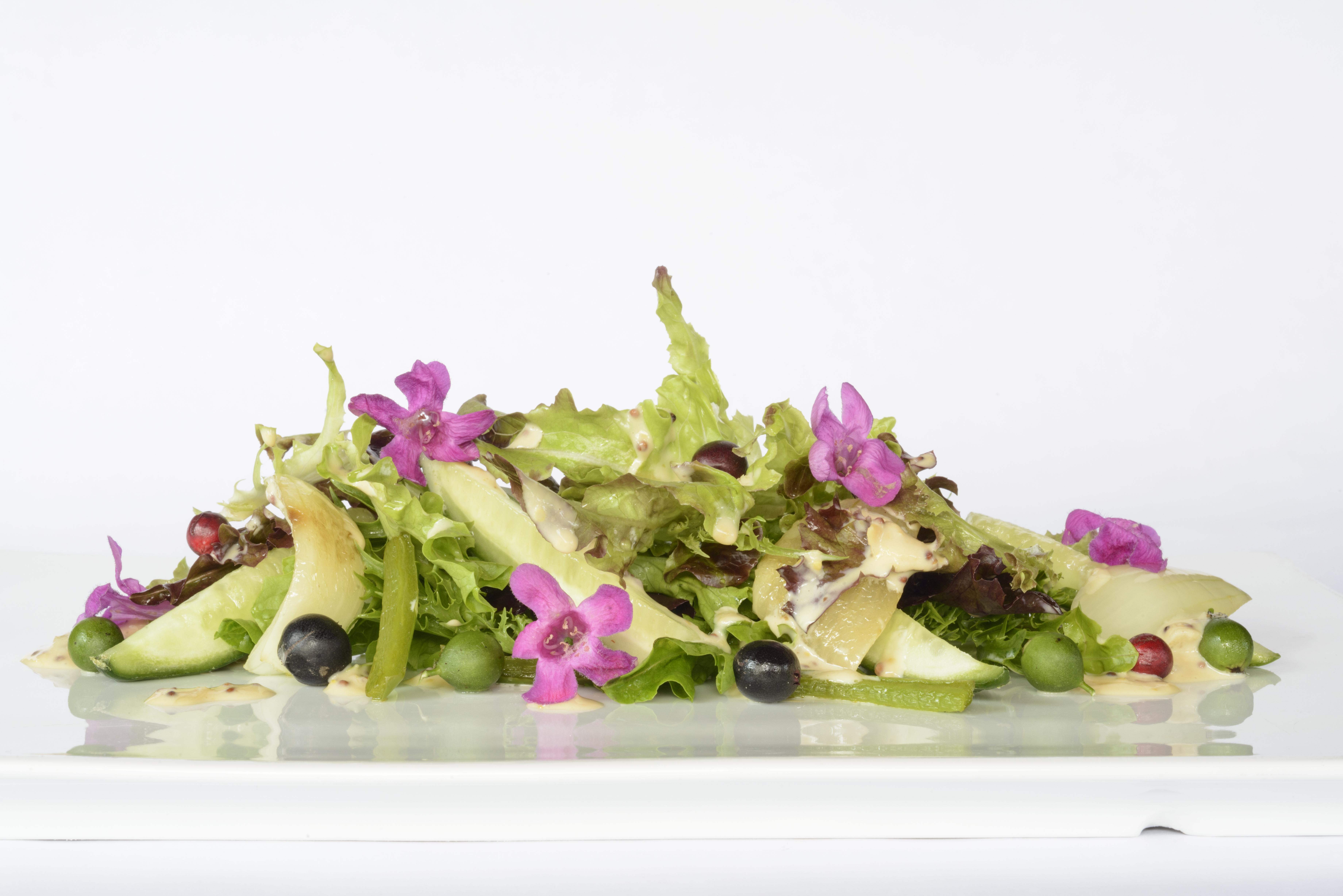 Ensalada de Frutas con Vinagreta de Yogurt y Mostaza